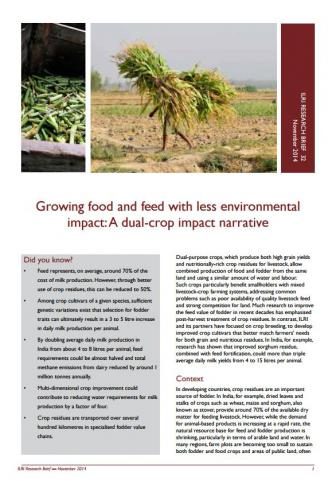 ILRI, 2014. ILRI Research Brief